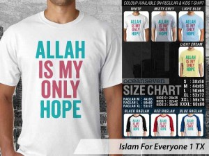Kaos Islam Allah is My Only Hope