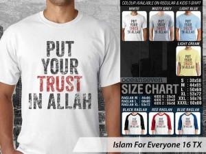Kaos Islam Put your Trust in Allah
