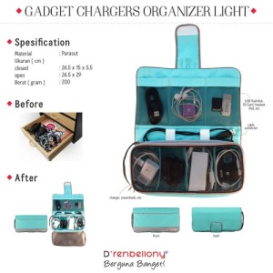 Charger Organizer Turquoise Green