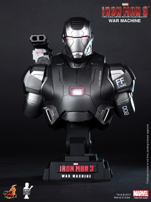 Hot Toys Bust 1/4 Iron Man 3 Warmachine 2.0