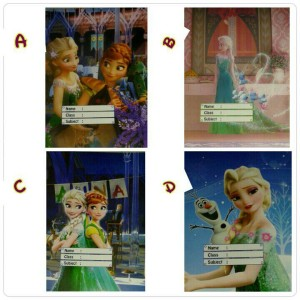 sampul buku frozen..