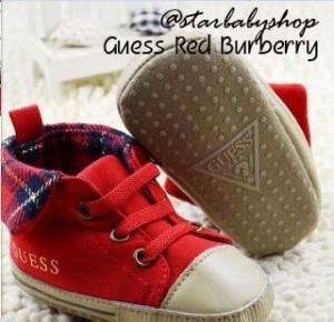 Prewalker Guess Red Burberry