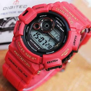 Jam Tangan Digitec Type DG 2028 T Digital Original Red Colour