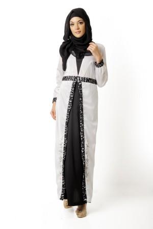 Busana Muslim Azkasyah Regeneratic Saida Gamis GSK20 White