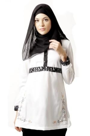 Busana Muslim Azkasyah Regeneratic Saida Blus BSK20 White