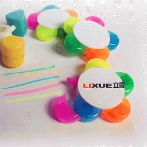 Pulpen Marker / Highlighter / Spidol Stabilo 5in1 Bentuk Bunga Praktis
