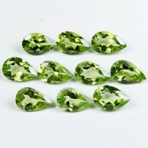 WHOLESALE-LOT-OF-8x5-mm-PEAR-FACET-NATURAL-EARTH-MINED-PERIDOT-G