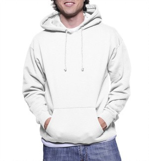 Jaket Hoodie Jumper Putih Polos / Jeket Polos / Sweater Polos pria