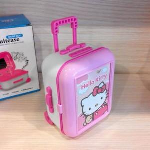 Music box bentuk koper lucu / cute suitcase Hello Kitty