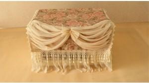 cover baju bungkus microwave bunga rose royal elegan shabby chic