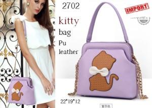 UB2702 FASHION MINI BAG KITTY UNGU