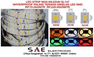 WATERPROOF LED STRIP FLEXYBLE FLEKSI SMD 5630 HIGH END PREMIUM LED SMD