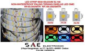 NON WATERPROOF LED STRIP FLEXYBLE SMD 5630 HIGH END PREMIUM LED SMD