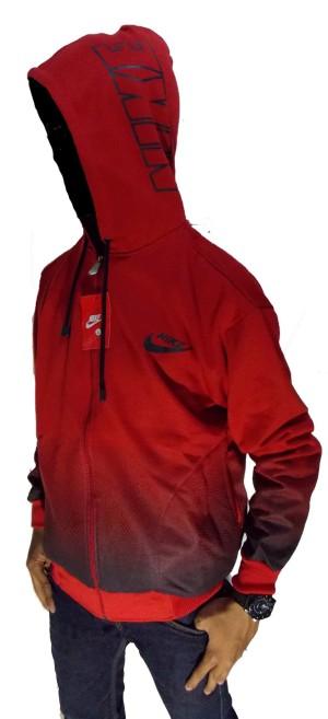 Jaket Nike Gradasi Merah - Hitam / Red - Black