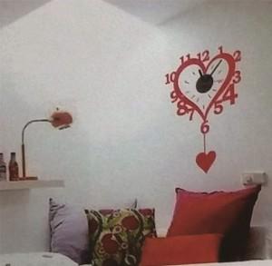 Stiker Jam Dinding - Love Clock A