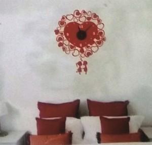 Stiker Jam Dinding- Love Clock B