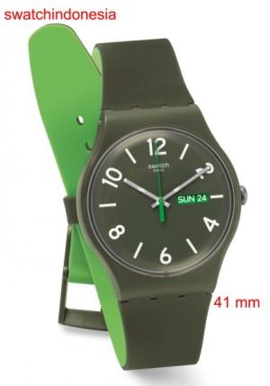 Jam Tangan SWATCH ORIGINAL 100% SUOG706 BACKUP GREEN murah & trendy