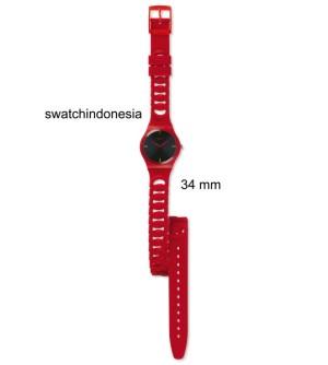 Jam Tangan SWATCH ORIGINAL 100% GR164 CRANBERRY LINK murah red trendy