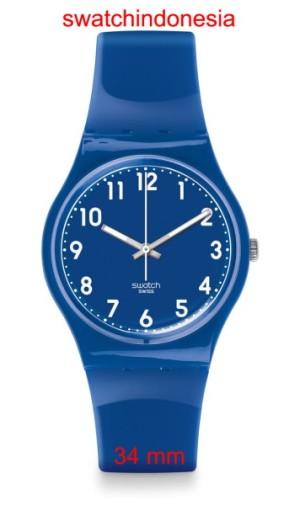 Jam Tangan SWATCH ORIGINAL 100% GN238 ZAF murah blue & white trendy