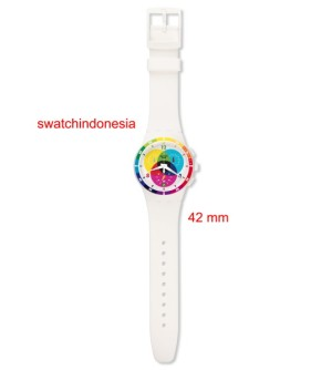 Jam Tangan SWATCH ORIGINAL 100% SUSW404 CHROMOGRAPH murah clear white