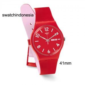 Jam Tangan SWATCH ORIGINAL 100% SUOR705 BACKUP RED murah red & white