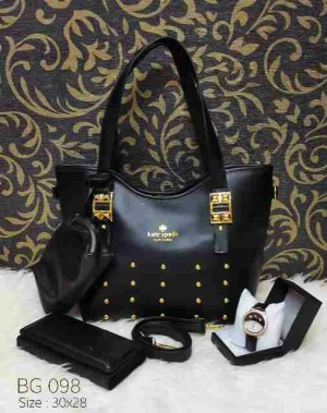 3 in 1 BG098 Black free pouch