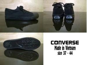 sepatu converse allstar full black / hitam original vietnam