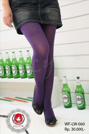 70D Velvet Pantyhose - Purple Stocking #060