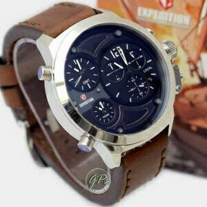JAM TANGAN PRIA/COWOK EXPEDITION SE 3 TIME KULIT BODY PUTIH ORI