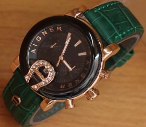 jam tangan aigner hijau