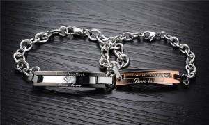 1 Pasang High Quality Gelang Couple Titanium Kode GC-002