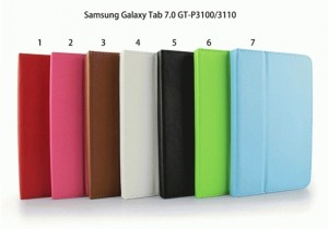 """Leather protective samsung galaxy tab 7"""" cover sleeve P6200 P3100"""
