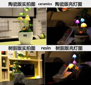 Lampu hias tidur jamur 7 Warna LED Avatar Light Mushroom Lamp Dream