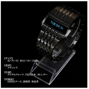 JAM TANGAN COWOK PRIA Oled Luxury Iron Man Watch Black Ironman Digital