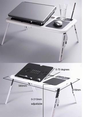 desktop with mini fan cooler cooling meja laptop notebook
