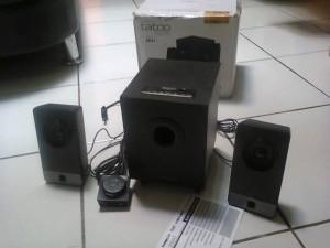 speaker active SONICGEAR ,usb mp3,FM radio