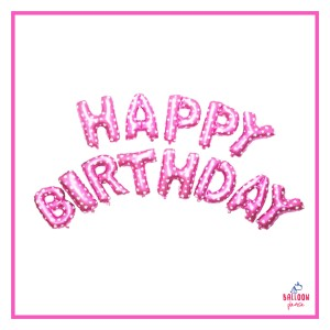 """HEARTY PINK LETTER FOIL 16"""""""