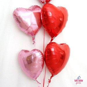 """RED HEART SHAPED FOIL BALLOON 18"""""""