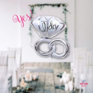ANAGRAM BALLOON - WEDDING RING