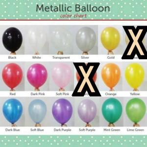 Balon metalik 12 inch