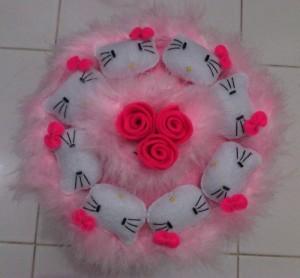 Buket Boneka Hello Kitty Bunga Pink H114