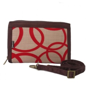 Dompet Makara Plain HPO FLOCKING CREAM RED