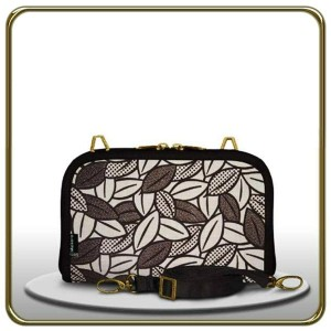 Dompet Makara Ovale HPO FLOCKING LEAF BLACK