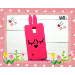 Softcase 3D Case Bunny Pink Samsung Note 4