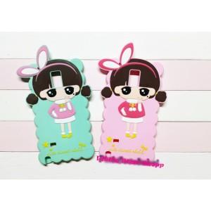Softcase 3D Case Bunny Korean Girl Samsung Note 4