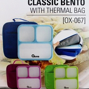 tempat bento oxone ox-067 /classic bento oxone with thermal bag ox-067