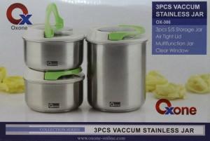 OX-306 | VACUUM STAINLESS JAR 3PCS OXONE