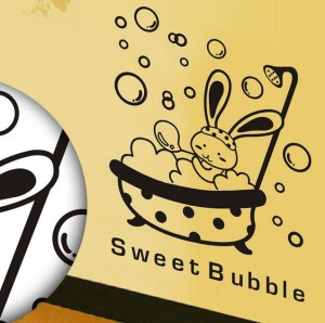 "Stiker Dinding / Kamar Mandi Motif ""Sweet Bubble"""
