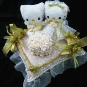 Bantal cincin wedding ring pillow boneka bantalan kotak cincin 3108