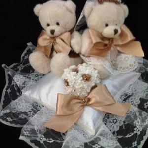 Bantal cincin wedding ring pillow boneka bantalan kotak cincin 3003